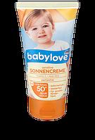 Солнцезащитный крем SPF 50+ для чувствительной нежной  детской  кожи ,обогащен витаминами А и Алое , 75 ml