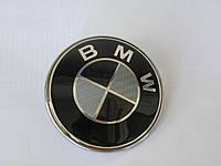 Эмблема багажника BMW Carbon 74mm