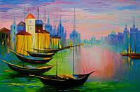 «Лодки» картина маслом