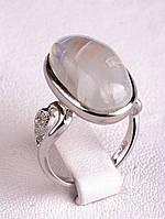 Роскошное серебрянное кольцо с лунным камнем