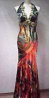Платье Moris Tone банкетное шелковое цветное