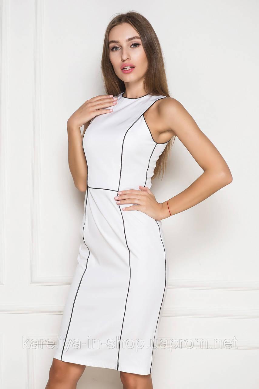 2a1d080d5a73 Облегающие белое платье без рукавов  продажа, цена в Харькове