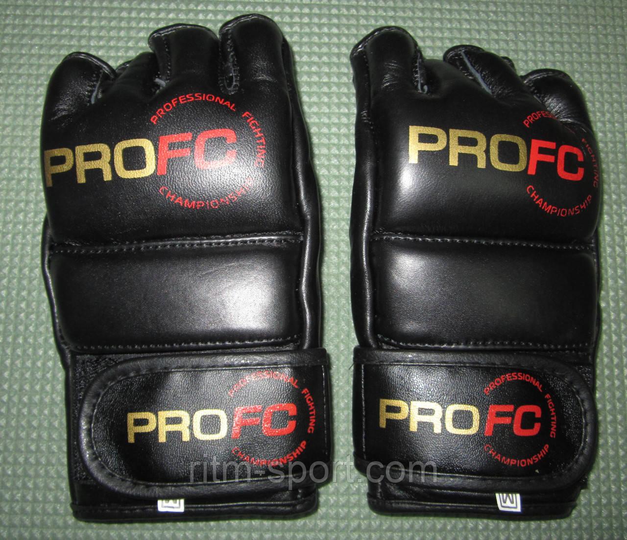 """Перчатки для единоборств черные """"PROFC"""" М2 (ММА)"""