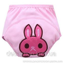 Тренувальні трусики для привчання до горщика (рожевий кролик)
