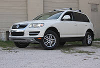 """Накладка на передний бампер VW Touareg 06-09 """"King Kong"""" Губа Туарег"""