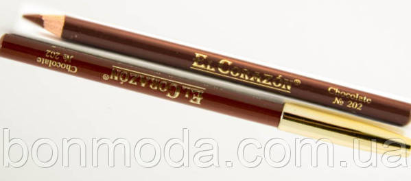 Карандаш для губ EL Corazon № 202 Chocolate