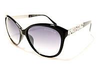 Женские очки Chanel 5309 C1 SM 02383, солнцезащитные очки Шанель черные с украшениями на дужках