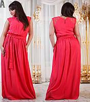 Женское платье с карманами длинное с гипюровыми вставками.Ткань штапель.Размер 50-56. DG р747.1