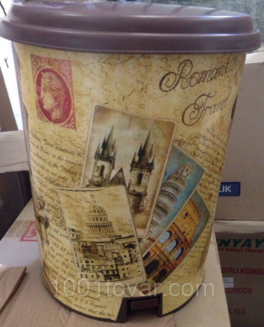 "Ведро педальное Еlif, с рисунком ""Pisa"", 7 л."