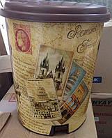 "Ведро педальное Еlif, с рисунком ""Pisa"", 7 л., фото 1"