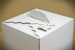 Коробка для упаковки торта с бабочками, 300*300*250