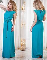 Женское платье с карманами длинное с гипюровыми вставками.Ткань штапель.Размер с.м.л.хл. DG р747