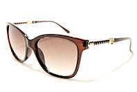 Очки женские Chanel 6625 C2 SM 02522, коричневые солнцезащитные очки в квадратной оправе (реплика)