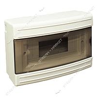Щит электрический LUXEL 8109 на 9 автоматов наружный со стеклом