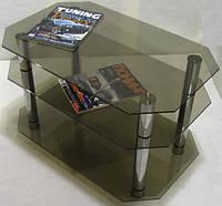 Журнальный столик из стекла Графит