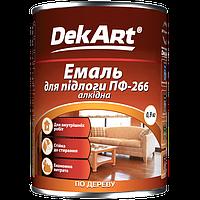 Краска Эмаль для пола желто-коричневая ПФ-266 0,9 кг DekArt