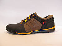 Туфли мужские ECCO кожаные, черные с коричневым (еко)р.42,43,45