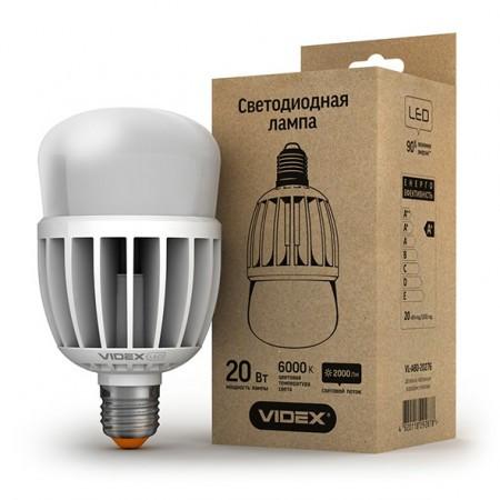 Светодиодная лампа VIDEX 20Вт А80 E27 Холодный белый 6000К