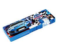 """Пенал пластиковый на магните с точилкой, 2 отделения, """"Blue Car"""""""