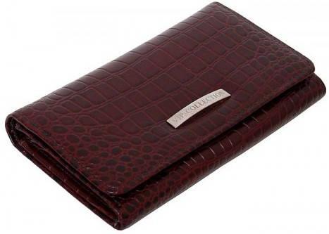 Прекрасный женский кошелек Vip Collection 1512B croc коричневый