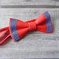 Дитячий вишитий метелик-краватка - Грецький, фото 1