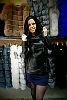 Куртка кожаная удлинённая 014кжт