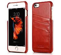 Чехол для iPhone 6 / 6S Plus - Icarer Baroque Vintage Back Cover Series, красный