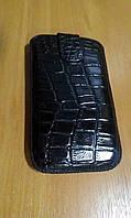 Чехол карман HTC Sensation черный крокодиловый