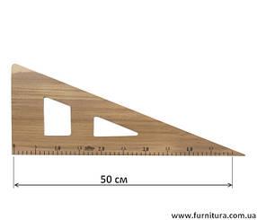 Линейка лекальная деревянная треугольник