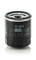 Фильтр масляный MANN W 68/3 для TOYOYA Corolla , Avensis , Auris , Camry , Carina , RAV 4 , Yaris , Celica
