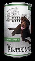 PLATINUM Rabbit, мясной сбалансированный корм  для собак