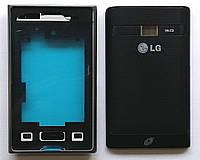 Корпус Original  для телефона LG E405 Optimus L3 Dual, full, чёрный