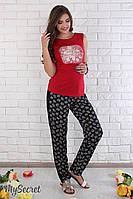 """Летние брюки из легкого штапеля для беременных """"Daina"""" размер 44, фото 1"""