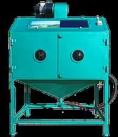 Инжекторная пескоструйная камера закрытого типа