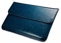 "Кожаный чехол-папка для MacBook Air 13"" - Icarer Genuine Leather Series, синий"