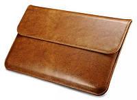 """Кожаный чехол-папка для MacBook Air 13"""" - Icarer Genuine Leather Series, коричневый"""