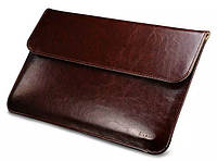 """Кожаный чехол-папка для MacBook Air 13"""" - Icarer Genuine Leather Series, кофейный"""