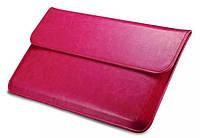 "Кожаный чехол-папка для MacBook Air 13"" - Icarer Genuine Leather Series, малиновый"