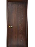 Дверь сакура каштан с гравировкой