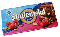 Молочный шоколад со вкусом малины Studentska