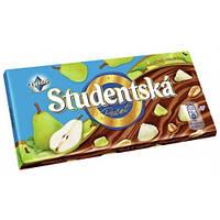 Чешский шоколад Studentska с грушей, арахисом и кусочками мармелада 180г