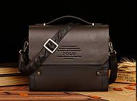 Мужской кожаный портфель Polo. Модель - 423, фото 2