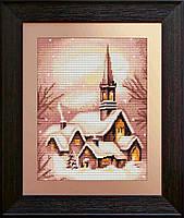 """Набор для вышивания нитками  """"Заснеженная церковь"""""""