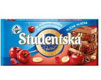 Молочный шоколад с вишней Studentska pecet Чехия 180г