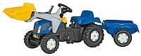 Трактор Педальный с Прицепом и Ковшом Rolly Toys 23929