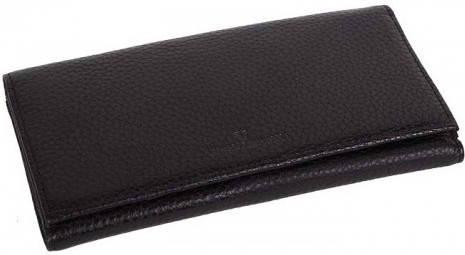Модный женский кошелек Vip Collection 1513A flat черный