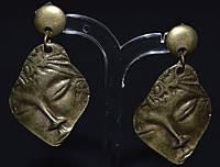 Серьги - пуссеты, антич.бронза, лицо 145_10a6