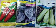 Семена  набор (морковь, базилик, кабачок)