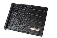 Зажим для денег Karya 0902-53 черный кожаный, фото 1