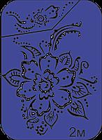 Трафарет мехенди 7х9 см для тату хной, бикини дизайна, аэрографа, блеск тату, глиттера, биотату
